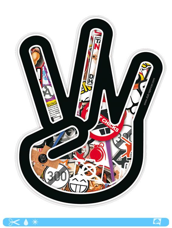 West COAST Sticker bombed bomb West Side Hand Sticker Shocker JDM OEM ...